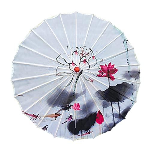 Kvinnor u-mbrella japanska körsbärsblommor silke gammal dans u-mbrella dekorativa u-mbrella kinesisk stil oljepapper u-mbrella (Color : D2)