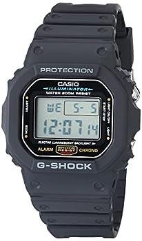 Casio Men s G-Shock Quartz Watch with Resin Strap Black 20  Model  DW5600E-1V