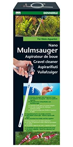 Dennerle Nano Mulmsauger für Aquarien - mit Durchflussbegrenzer und Schlauchhalter - Bodengrundreiniger