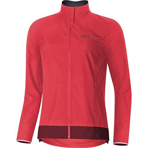 Gore Wear Damen Winddichte Fahrradjacke, C3 Women GORE WINDSTOPPER Classic Jacket, 36, Pink/Bordeaux, 100276