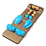 Qin Body Massage Mat with Heat-Back Massage Chair Pad, Heated Massage Mattress Pad for Back Pain Relief,Massage Seat Cushion with Rolling, Kneading & Vibration - to Relieve Muscle Pain