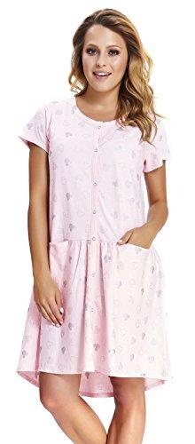 DN, Nachthemd, TCB.9444, Light.pink, Gr. S/Umstandsnachthemd/Stillnachthemd/Nachthemd für Schwangere, Baumwolle