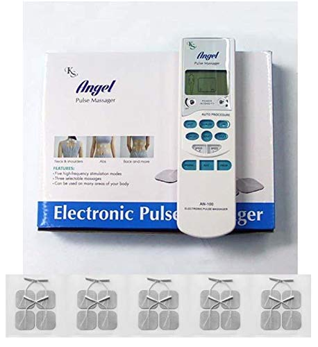 Tens Unit Electronic Pulse Massager + 20 electrodes Bundle Pack FDA Cleared – Pain Management (Pulse Massager with 20 Pads)