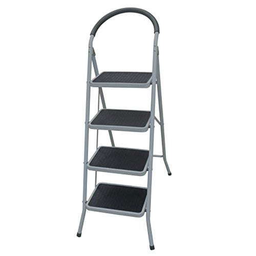 Scala domestica sgabello 4 gradini acciaio scalini antiscivolo lavoro casa TO4