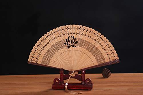QJXSAN Kleine Faltfächer chinesischen Holz Folding Fan Dekoration-Tanzparty (7 Zoll)