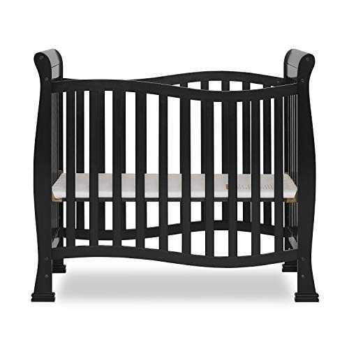 Dream On Me Violet Mini Crib in Black, Greenguard Gold Certified