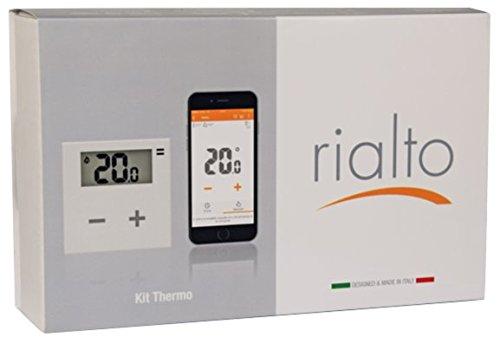 Rialto Kit Thermo: cronotermostato WiFi intelligente e programmabile da app per la gestione del clima invernale ed estivo di casa, ufficio e azienda (kit di base)