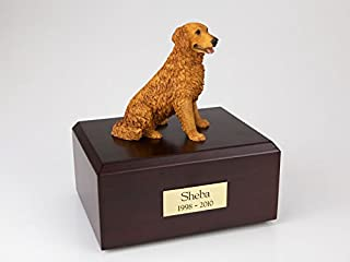 GENUINE North American Hardwood and Retriever Urn Golden Large