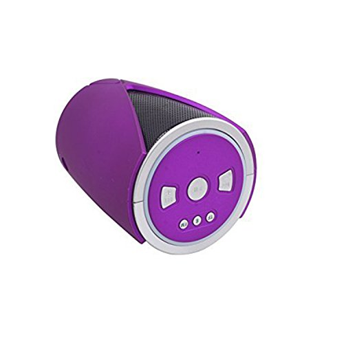ALLIMITY Portable Wireless Outdoor Bluetooth Speakers with Mic (Purple)