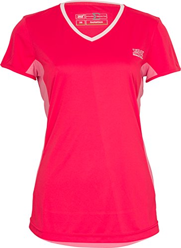 TAO Sportswear Femme à Manches Courtes Falbala, Dubarry/Parfum, 40, 64402–31016