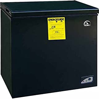Igloo 5.1 cu ft Chest Freezer 240 volts, Black,Freezing temperature to -18 degrees