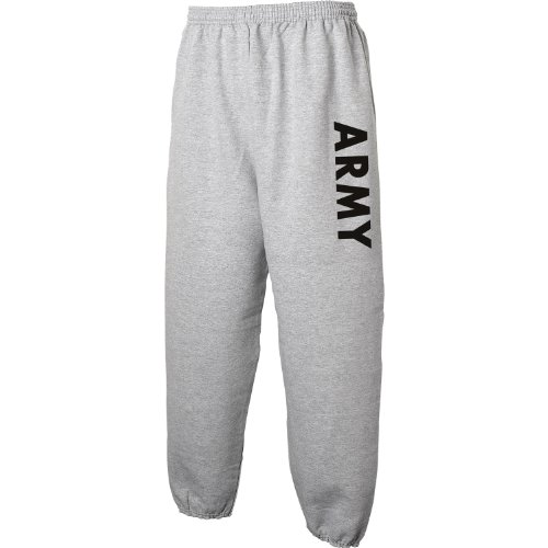 Army Sweat Pants - Military Style Physical Training Sweat Pants in Gray - X-Large