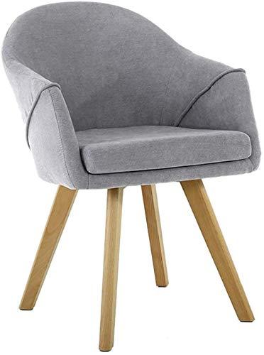 YYF Holzküchenstühle, Esszimmerstühle, Moderne Freizeitmöbel, Bequeme Rückenlehne, geschwungene Armlehnen,Grey