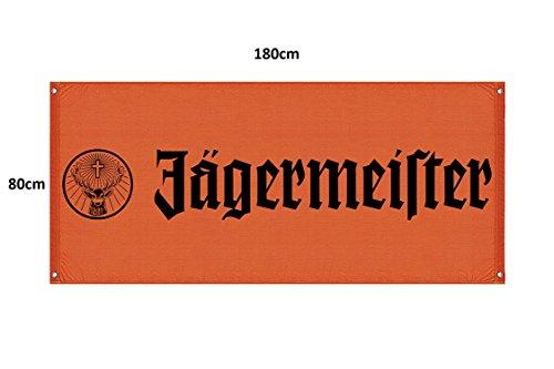 Jägermeister Fahne/Banner orange 180x80cm