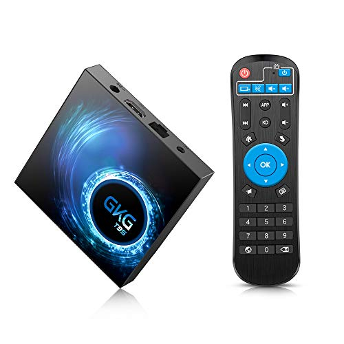 GKG Android TV Box 10.0, GKG T95 TV Box 4GB RAM 32GB ROM Allwinner H616 Quad-core 64-bit Soporte 6K 3D WiFi 2.4GHz Android Box [2020 Versión]