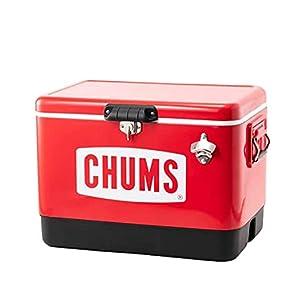 チャムス (CHUMS) スチールクーラーボックス レッド 54L CH62-1283-R001-00 H 42×W 58×D 36.5cm