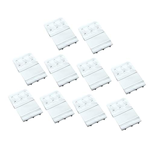 SM SunniMix Paquete de 10 Sujetadores Extensores con Clip de Extensión para Sujetador de Maternidad de Talla Grande con 3 Ganchos Elásticos - Blanco, 8.1x5.6cm