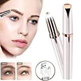 1 PCS Rose Gold Multifunction Eyebrow Trimmer Electric for Women Eyebrow Remover Painless