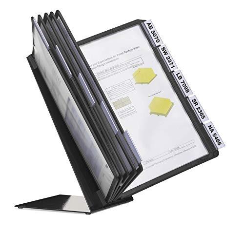 Durable 557001 Tisch-Sichttafelsystem (Vario Table 10, mit 10 Sichttafeln A4) schwarz