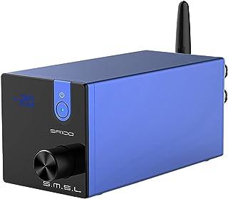 S.M.S.L SA100 パワーアンプ Bluetooth5.0 50Wx2 高低音調整可能 TPA3116D2 AUX/Bluetooth入力