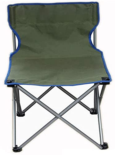 SDKFJ Silla de Camping Silla Plegable de Tela Oxford de Doble Capa Silla portátil para Acampar Silla de Pesca al Aire Libre para jardín, Playa, Barbacoa 0626(Color:Green)