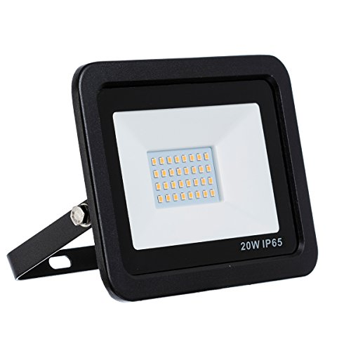 LED Strahler, LED Fluter, 20 Watt Warmweiss LED Flutlicht Slim, 20W 1800 Lumen Ersetzt 200 Watt, 220-240V, LumenTEC