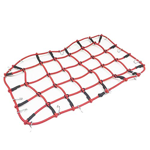 Dasing Nylon Rope Luggage Rack Net for 1/10 RC Crawler Car TRX4 Bronco D90 D110 Axial Scx10 90046,Red