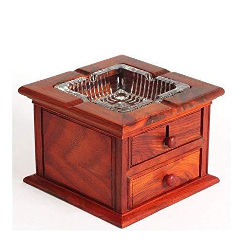 LYYJIAJU Cenicero para cigarrillos único hecho a mano de madera - Cenicero de tabaco decorativo de madera irregular para el hogar y la oficina