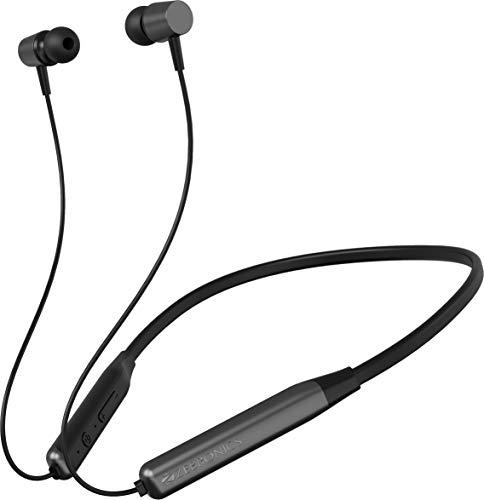ZEBRONICS Zeb Evolve Wireless Bluetooth in Ear Neckband Earphone with Mic (Gray)
