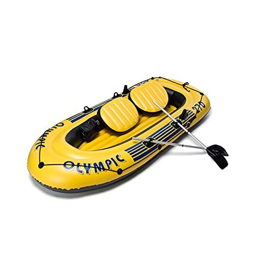 Gaoweipeng 2-5 Personas Kayak Hinchable, Plegable Conveniente Bote Inflable Comodidad Piraguaseguridad Barco De Asalto Estabilidad Balsa Adulto Canoa,4 People