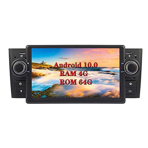 XISEDO Android 8.0 Autoradio In-dash 1 Din Car Radio 7 Pollici Car Stereo 8-Core RAM 4G ROM 32G Navigatore GPS con Schermo di Tocco per Fiat Linea 2007-2012/ Fiat Grande Punto 2008