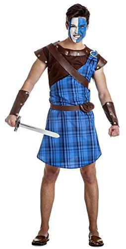 Disfraz de Guerrero Escocés Azul Talla XL