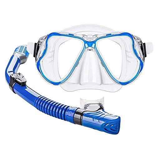 XJW Traje de buceo de silicona completo seco plegable Snorkel gafas de buceo para adultos 2021/6/8 (color: blanco)