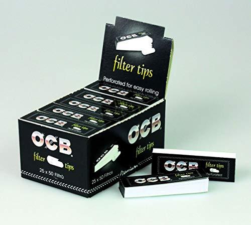 OCB Filtro Tips Perforado Slim Sugerencias Filtro 3 cajas (75 paquetitos de papel de fumar )