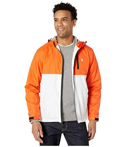 U.S. Polo Assn. Hooded Color-Block Windbreaker Bright Orange XL