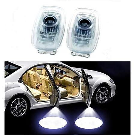 Sunshine Fly 2 Stück Einstiegsbeleuchtung Autotür Projektion Türbeleuchtung Willkommen Logo Dekoration Umgebungslicht Leuchten Ambiente Emblem 3d Auto