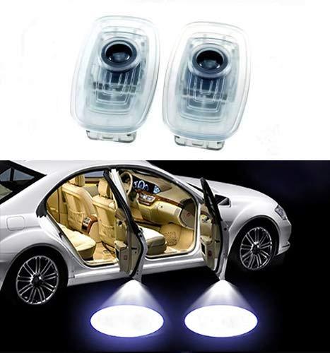 Sunshine Fly 2 Stück Einstiegsbeleuchtung Autotür Projektion Türbeleuchtung Willkommen Logo Dekoration Umgebungslicht Leuchten Ambiente Emblem 3D