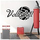 Adesivo Murale Wall Sticker Impermeabile DIY Adesivi Per La Parete Di Pallavolo Adesivi Sportivi Ragazzi Decorazione Camera Da Letto Decorazione Adolescenziale Stanza Murale 53X114cm