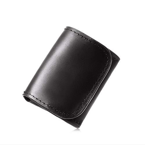 [Le sourire] 極小 小銭入れ ビジネスマンの小さな本革 コインケース コンパクト メンズ ルスリール ブラック