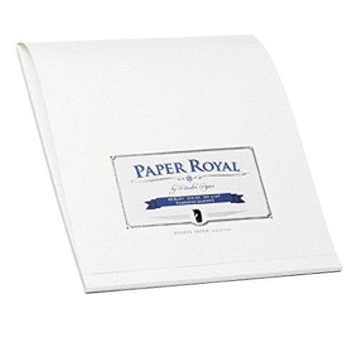 Rössler 2002831009 - Paper Royal - Briefblock A4, 40 Blatt, weiß gerippt
