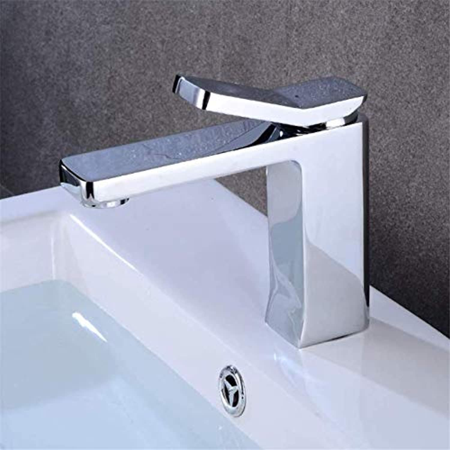 Stylish Bathroom Sink Toilet Faucet Modern Single Handle Basin Faucet Chrome-Plated Mirror Effect Brass bar Faucet