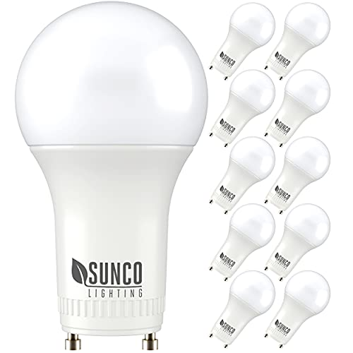 Sunco Lighting 10 Pack A19 LED Bulb, 9W=60W CFL Replacement, 5000K...