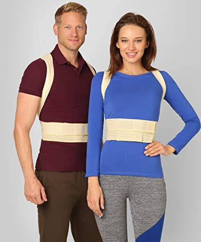 ®BeFit24 Corrector De Postura - Solución Instantánea Para La Postura Encorvada Frente Al Ordenador - Cinturón Para El Alivio Del Dolor De Espalda - El Mejor Soporte Para El Hombro - [ Size 1 - Beige ]