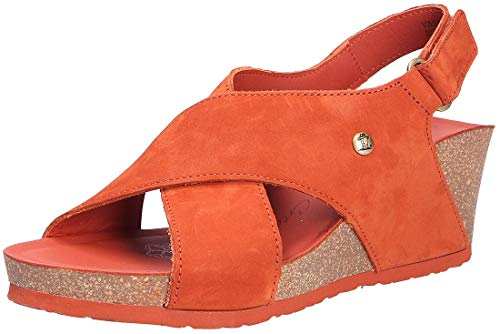 Panama Jack Valeska Basics, Sandalias con cua Mujer, marrón Oxidado, 41 EU
