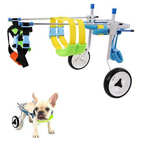 HEEGNPD 2 wielen huisdier hond kat rolstoel aluminium kinderwagen Scooter voor gehandicapte achterbeen aanpassing rolstoel voor 3-15kg huisdier