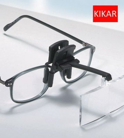 KIKAR Clip-On Magnifier with 4 inter-changeable Lenses - Fit