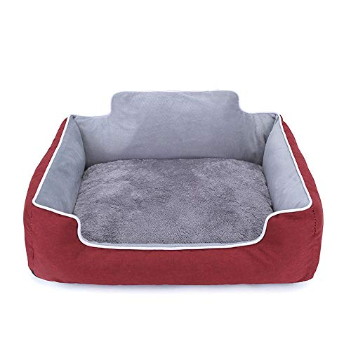 Cuccia per Gatti Letto per Cani Gatto , Lettino per Animale Domestico Lavabile in Morbido Peluche, Cuccia per Cani di Piccola Taglia e Gatti -Noble Red_S-40 * 35 cm
