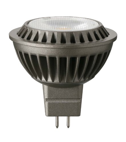 Panasonic LED-Reflektorlampe MR16, 5.5 W ersetzt 35 W, Sockel GU5.3, extra warmton 2700 K, LED in Reflektorlampenform 50 mm, 12 V, 36 Grad Abstrahlwinkel, 25.000 Stunden LDR12V6L27WG5EP