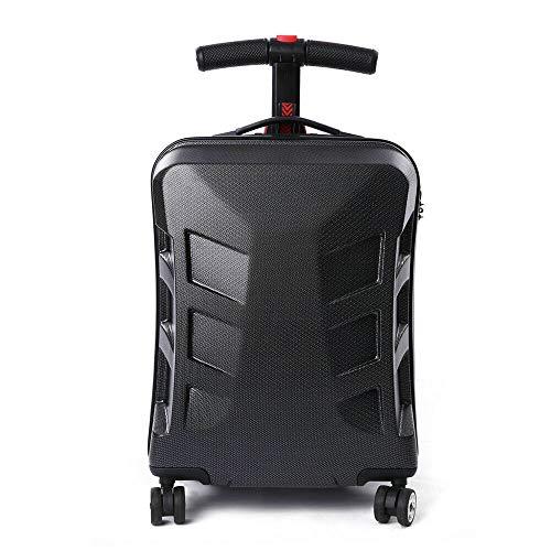 MOMOJA maleta plegable de 21 pulgadas con ruedas traseras para viaje o monopatín, bolsa de almacenamiento para transporte en el aeropuerto o al aire libre Negro Negro  21''