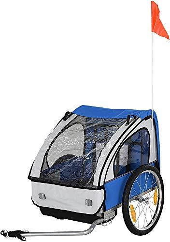 Children's Bicycle Trailer Steel Frame Safety constraints seat Bracket Children Children,Blue